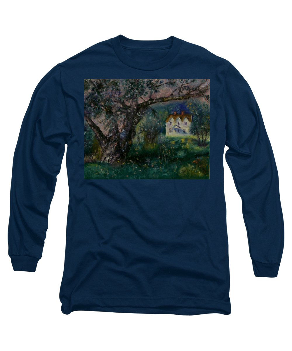 Landscape Long Sleeve T-Shirt featuring the painting Homestead by Stephen King
