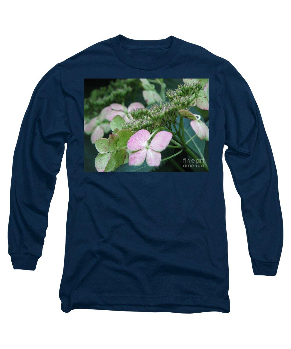 Hydrangea Long Sleeve T-Shirt featuring the photograph Hydrangea by Amanda Barcon