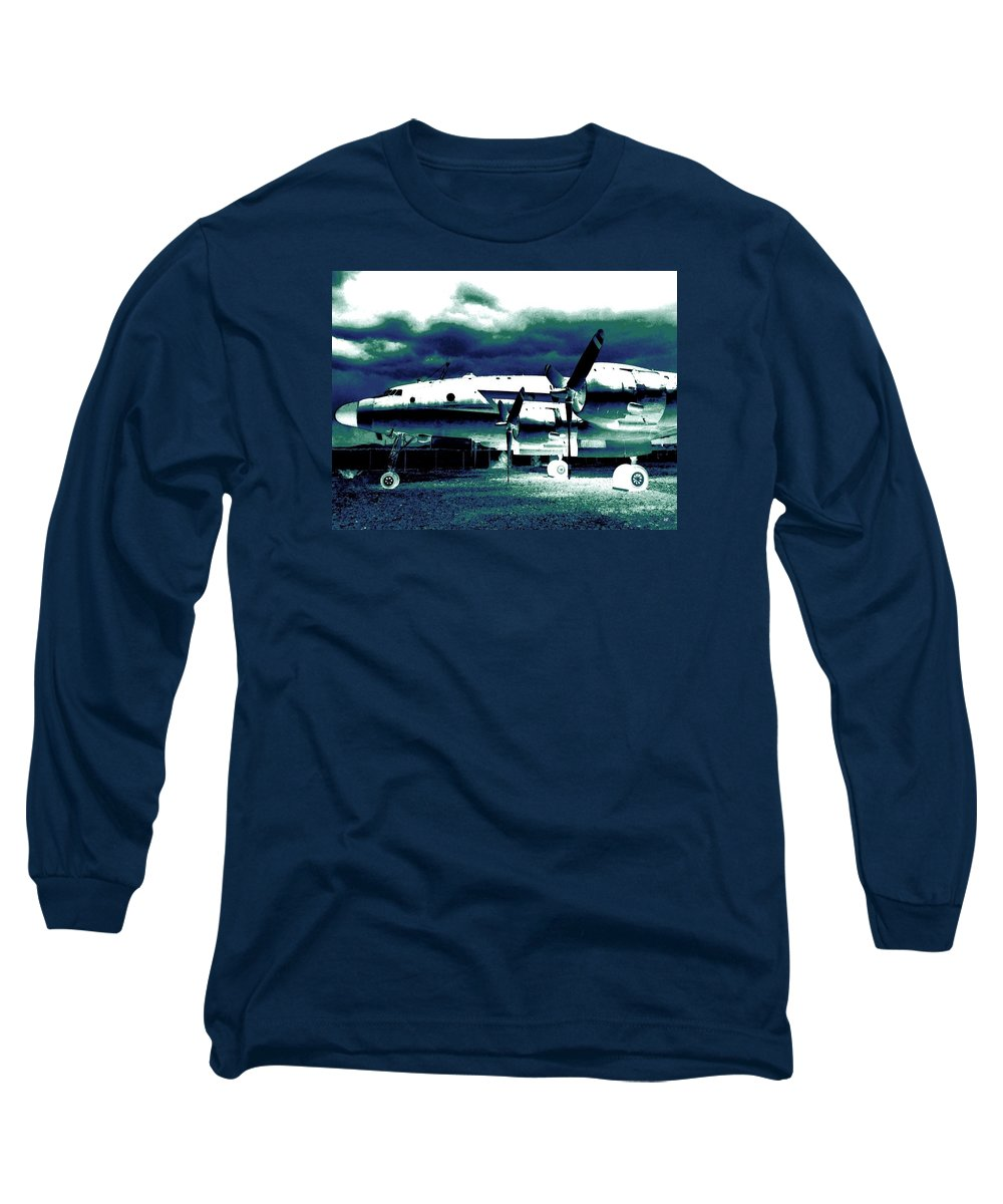 Impressions Long Sleeve T-Shirt featuring the digital art Impressions 7 by Will Borden