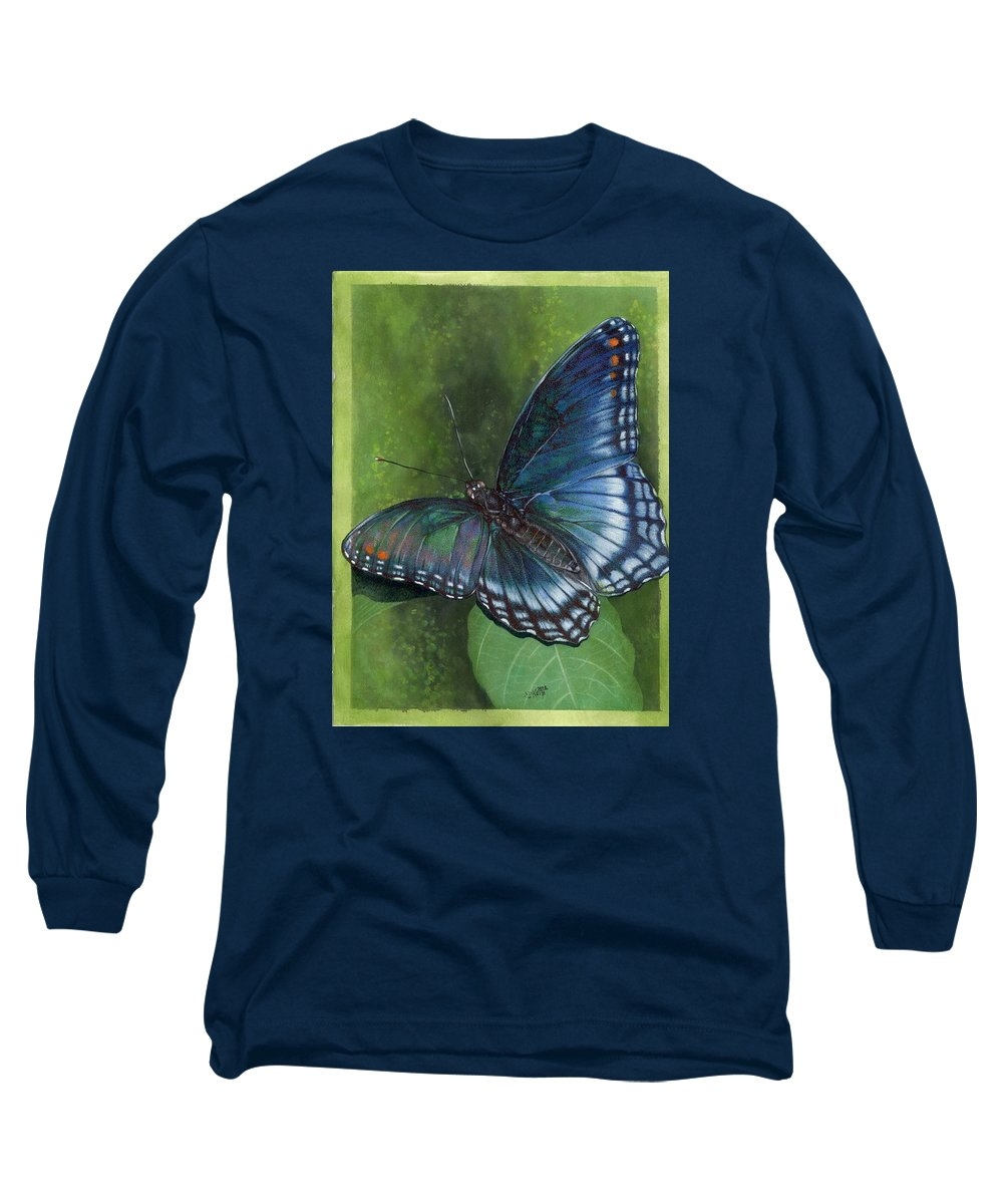 Insects Long Sleeve T-Shirt featuring the mixed media Jewel Tones by Barbara Keith