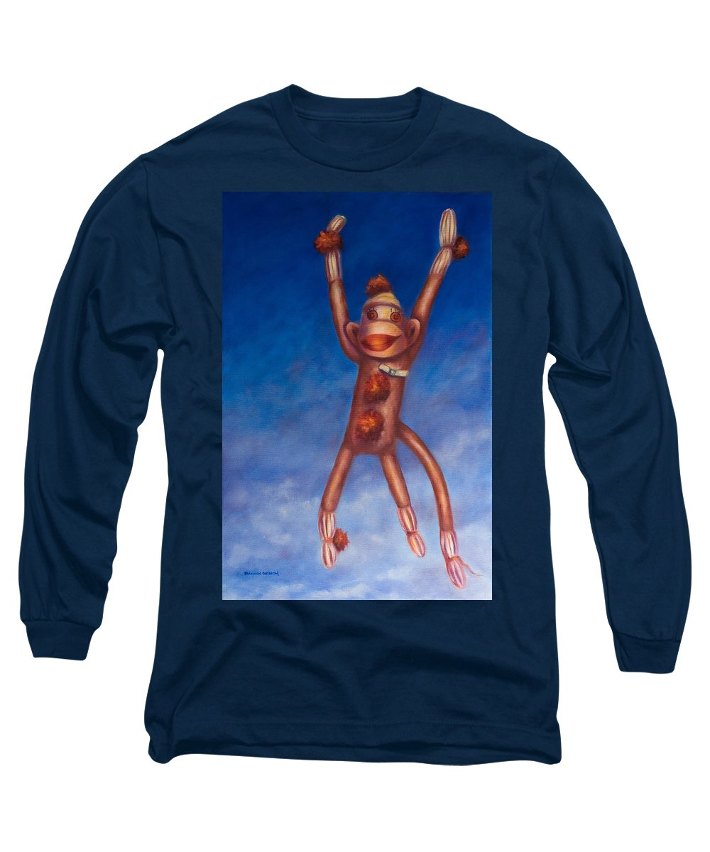 Children Long Sleeve T-Shirt featuring the painting Jump For Joy by Shannon Grissom