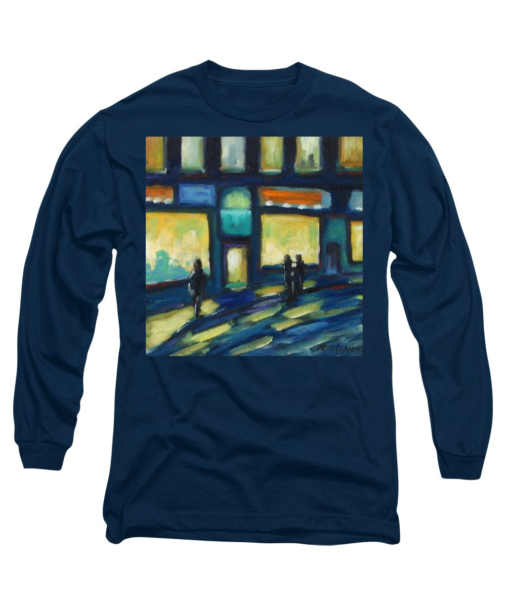 Town Long Sleeve T-Shirt featuring the painting Just Looking by Richard T Pranke