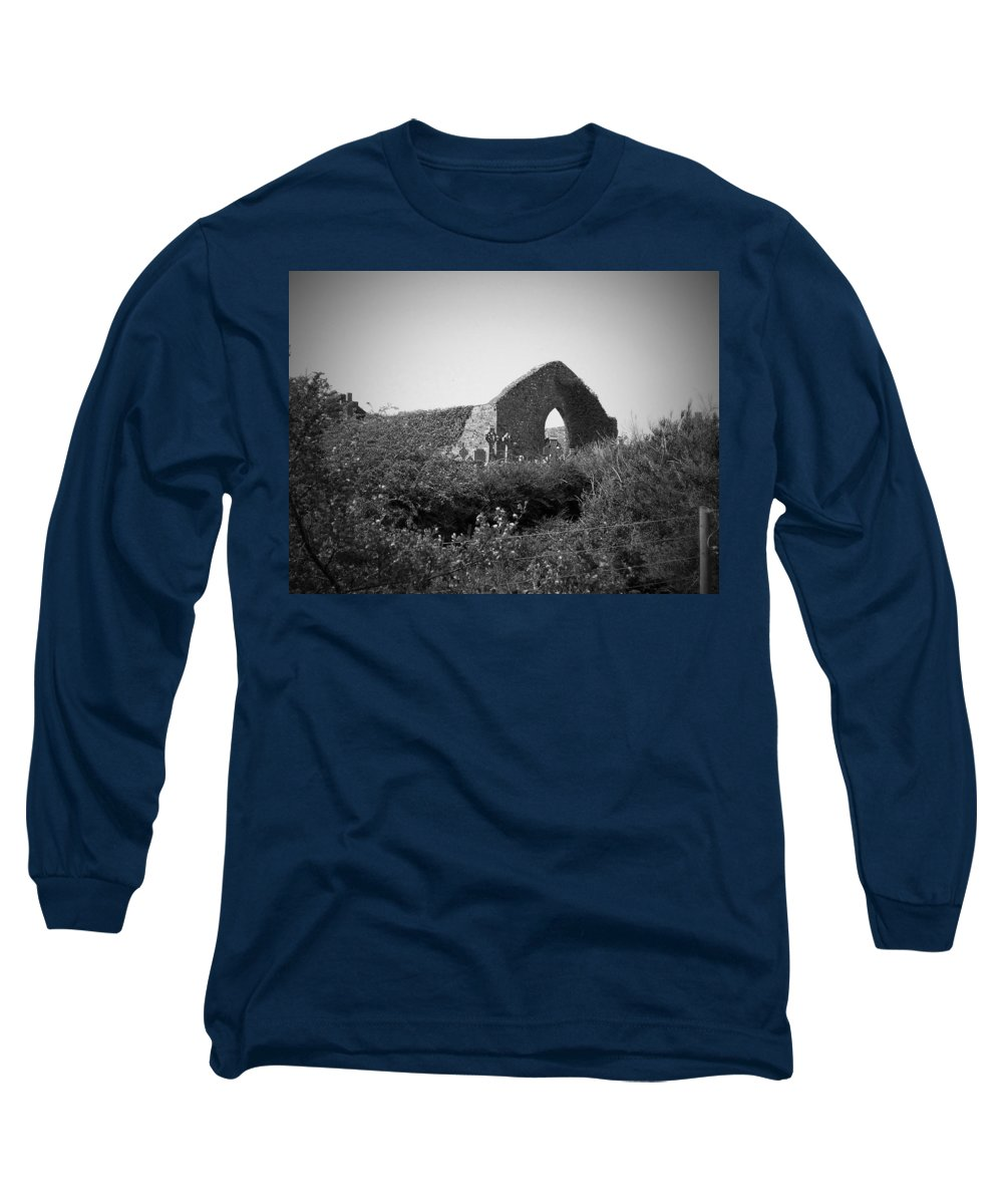 Irish Long Sleeve T-Shirt featuring the photograph Kilmanaheen Church Ruins Ennistymon Ireland by Teresa Mucha
