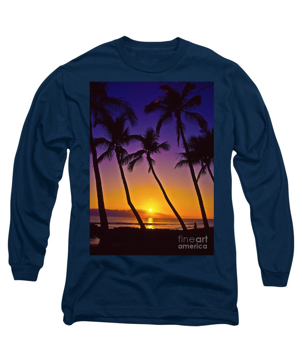 Sunset Long Sleeve T-Shirt featuring the photograph Launiupoko Sunset by Jim Cazel