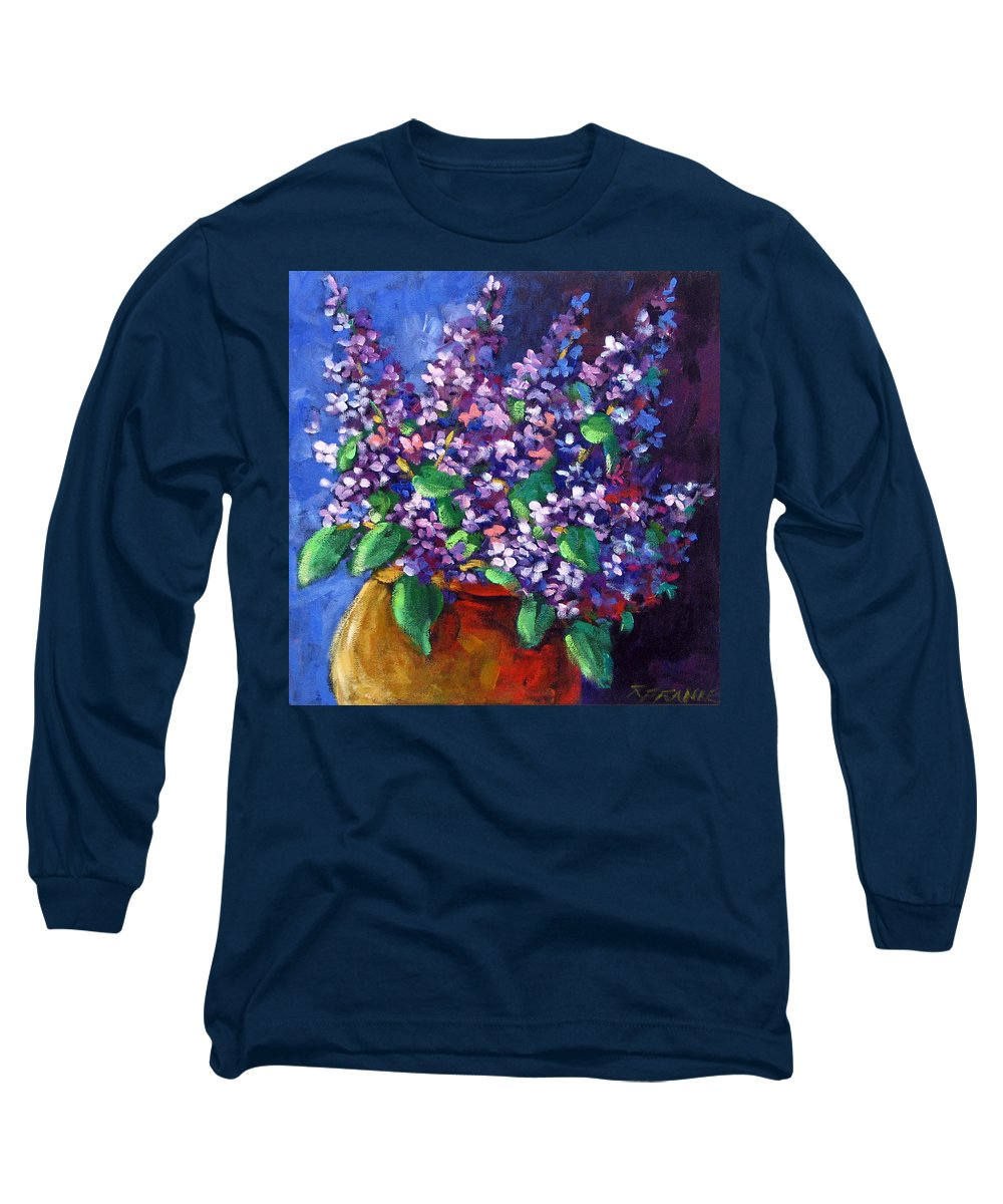 Art Long Sleeve T-Shirt featuring the painting Lilacs by Richard T Pranke