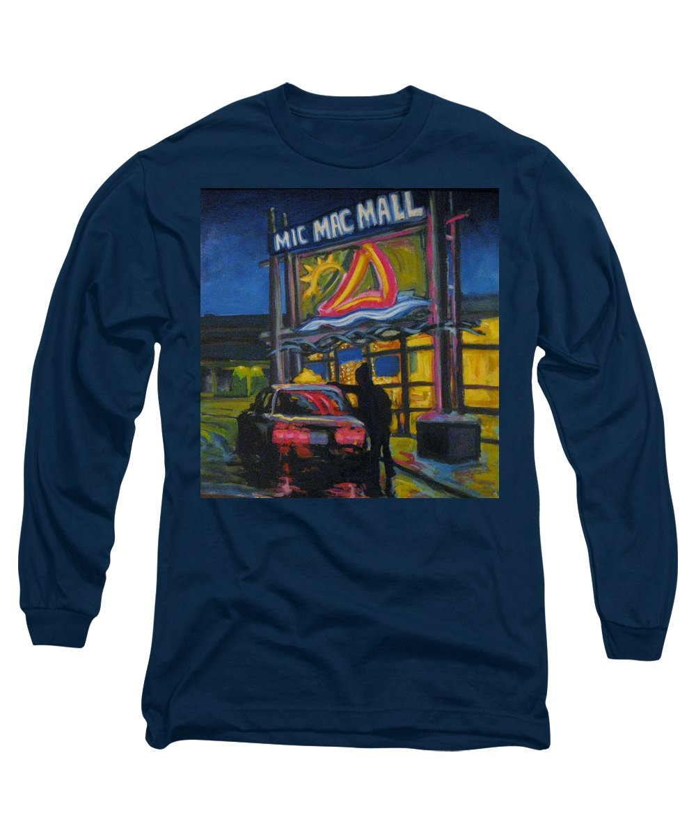 Retail Long Sleeve T-Shirt featuring the painting Mic Mac Mall Spectre Of The Next Great Depression by John Malone