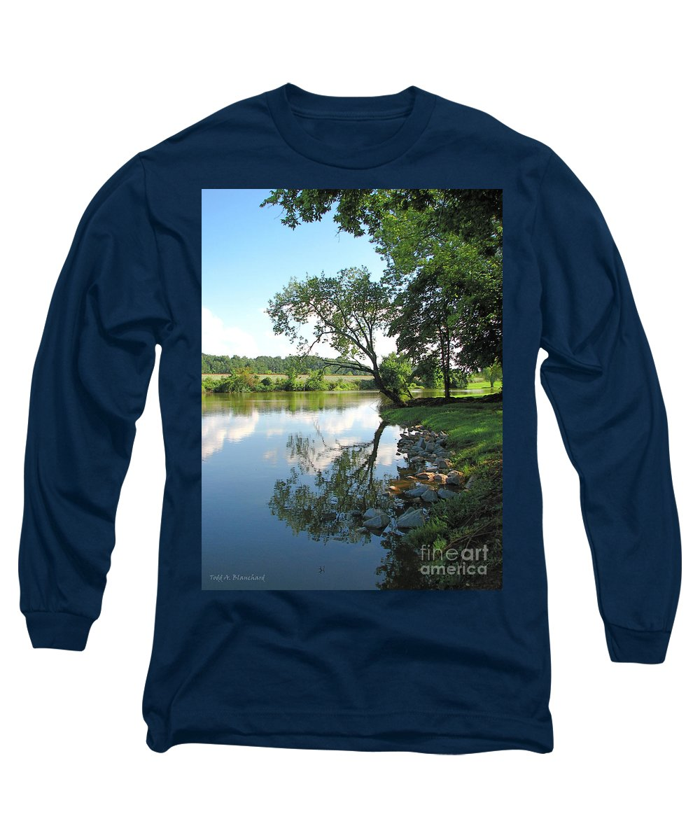 Landscape Long Sleeve T-Shirt featuring the photograph Mirror Image by Todd A Blanchard