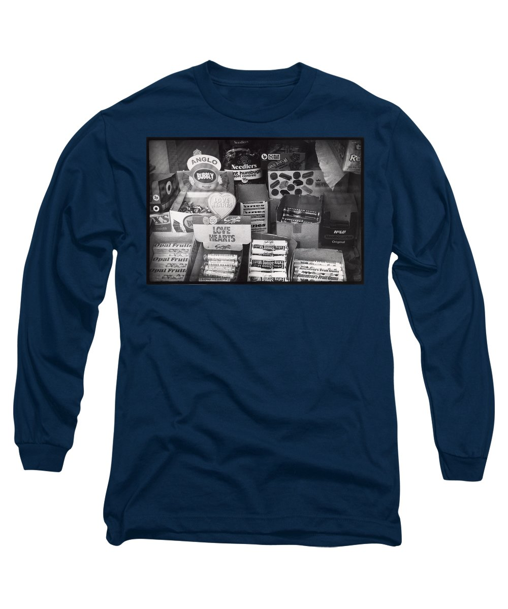 Candy Long Sleeve T-Shirt featuring the photograph Monochrome Candy by Charles Stuart