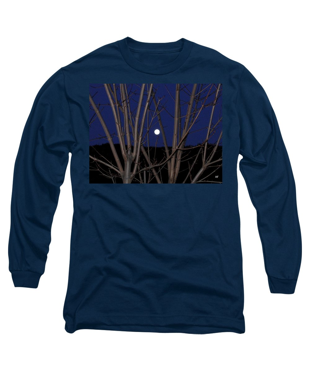 Moon Long Sleeve T-Shirt featuring the photograph Moonrise by Will Borden