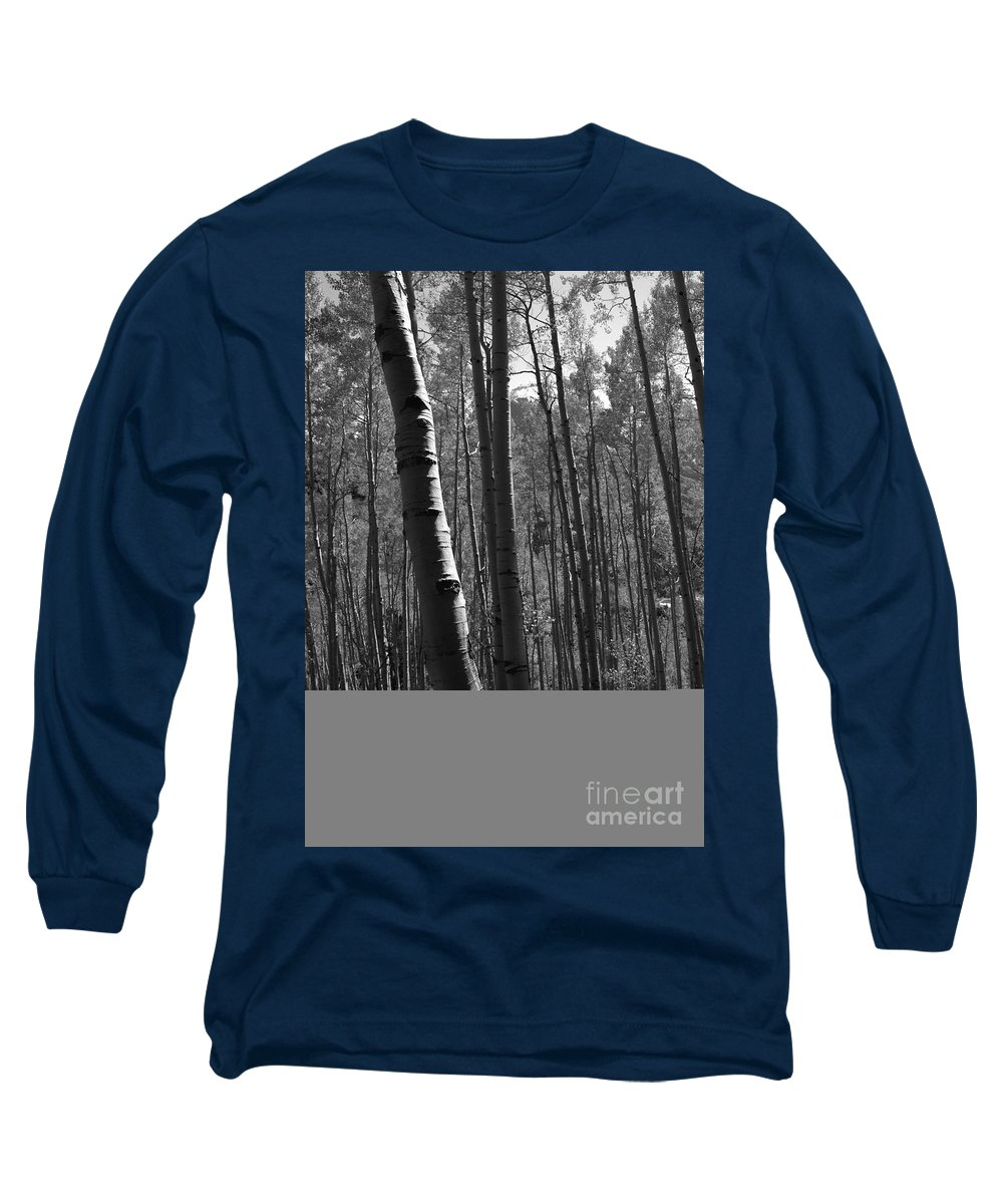 Mountains Long Sleeve T-Shirt featuring the photograph Mountain Aspens by David Lee Thompson