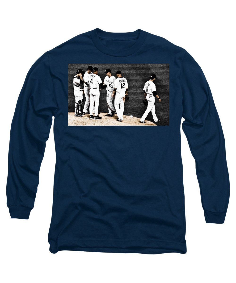 Baseball Long Sleeve T-Shirt featuring the photograph My Rock Collection - Colorado Rockies by Marilyn Hunt
