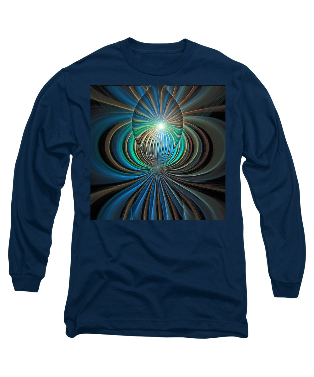 Digital Art Long Sleeve T-Shirt featuring the digital art Namaste by Amanda Moore