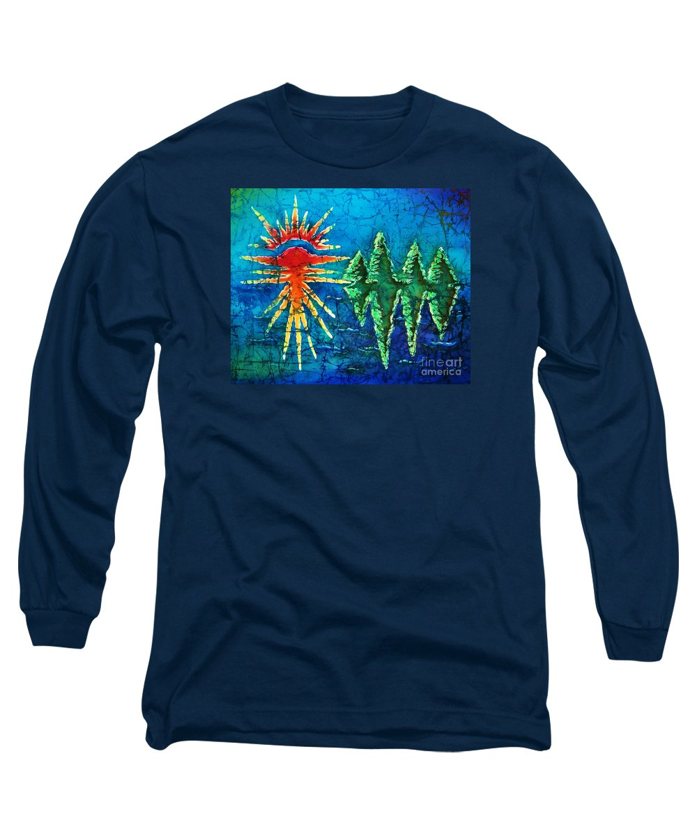 Trees Long Sleeve T-Shirt featuring the painting Nature by Sue Duda
