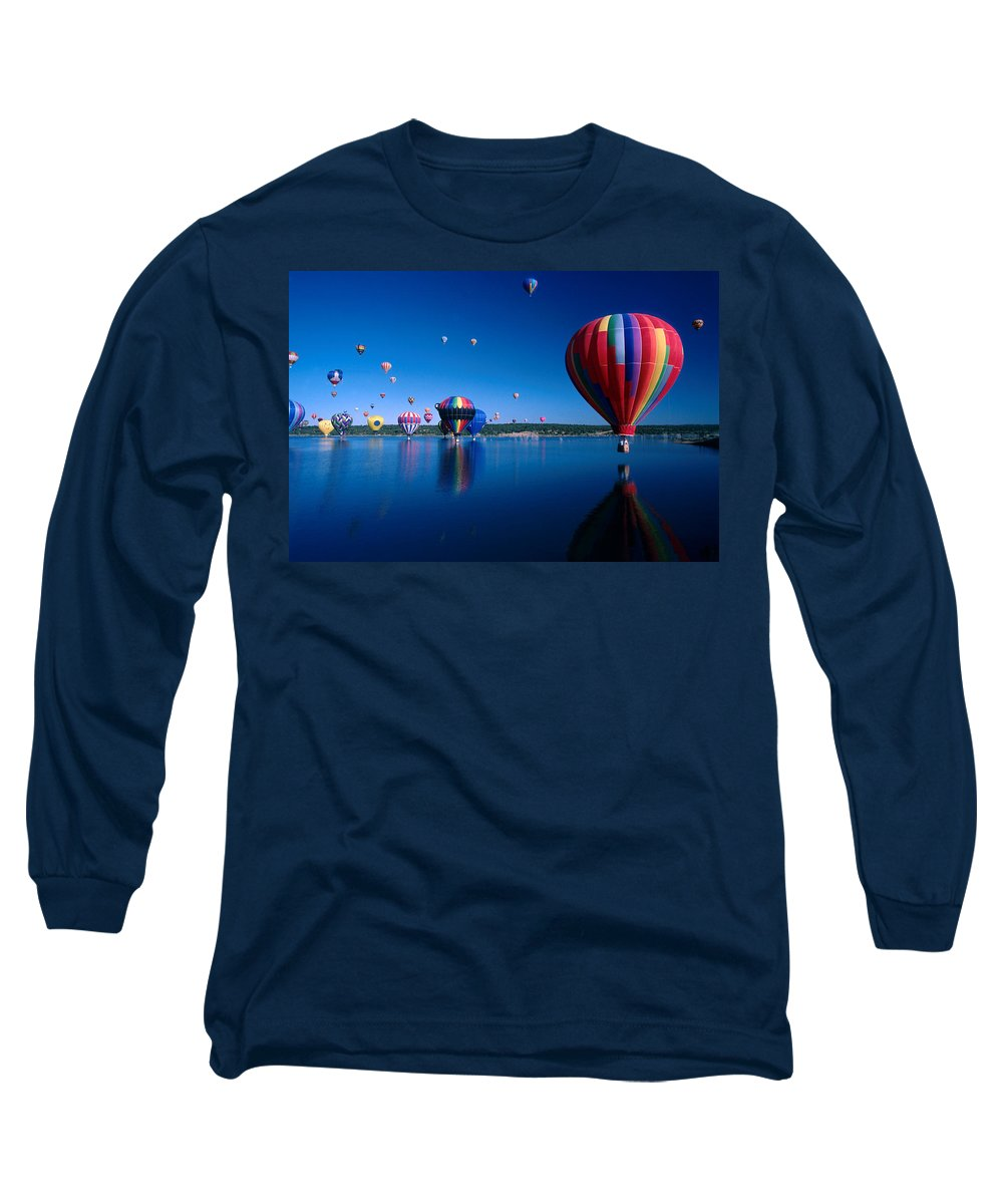 Hot Air Balloon Long Sleeve T-Shirt featuring the photograph New Mexico Hot Air Balloons by Jerry McElroy