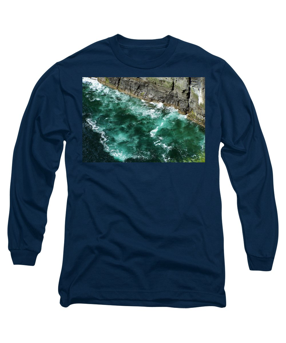Irish Long Sleeve T-Shirt featuring the photograph Nowhere To Go Cliffs Of Moher Ireland by Teresa Mucha