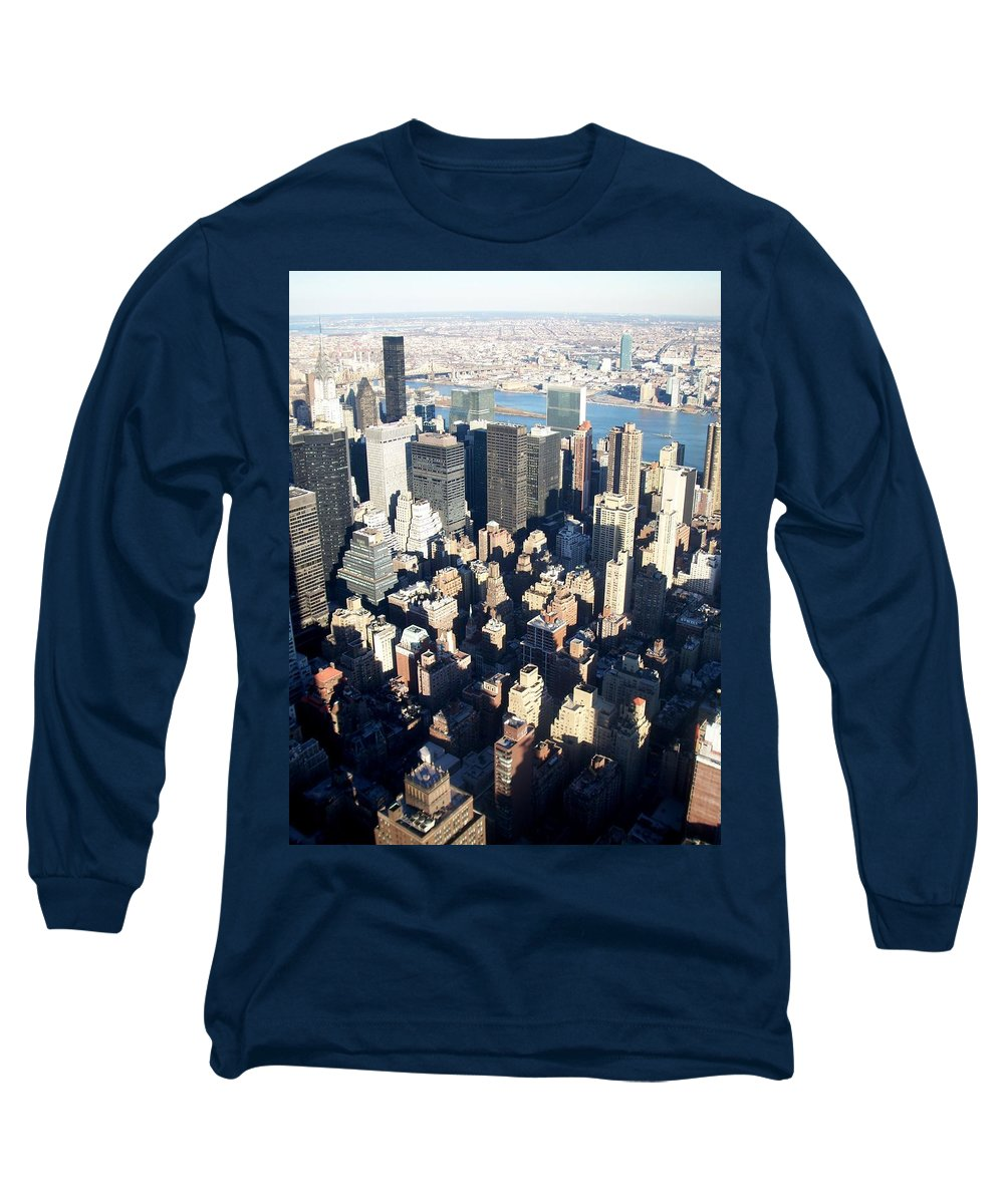 Nyc Long Sleeve T-Shirt featuring the photograph Nyc 4 by Anita Burgermeister