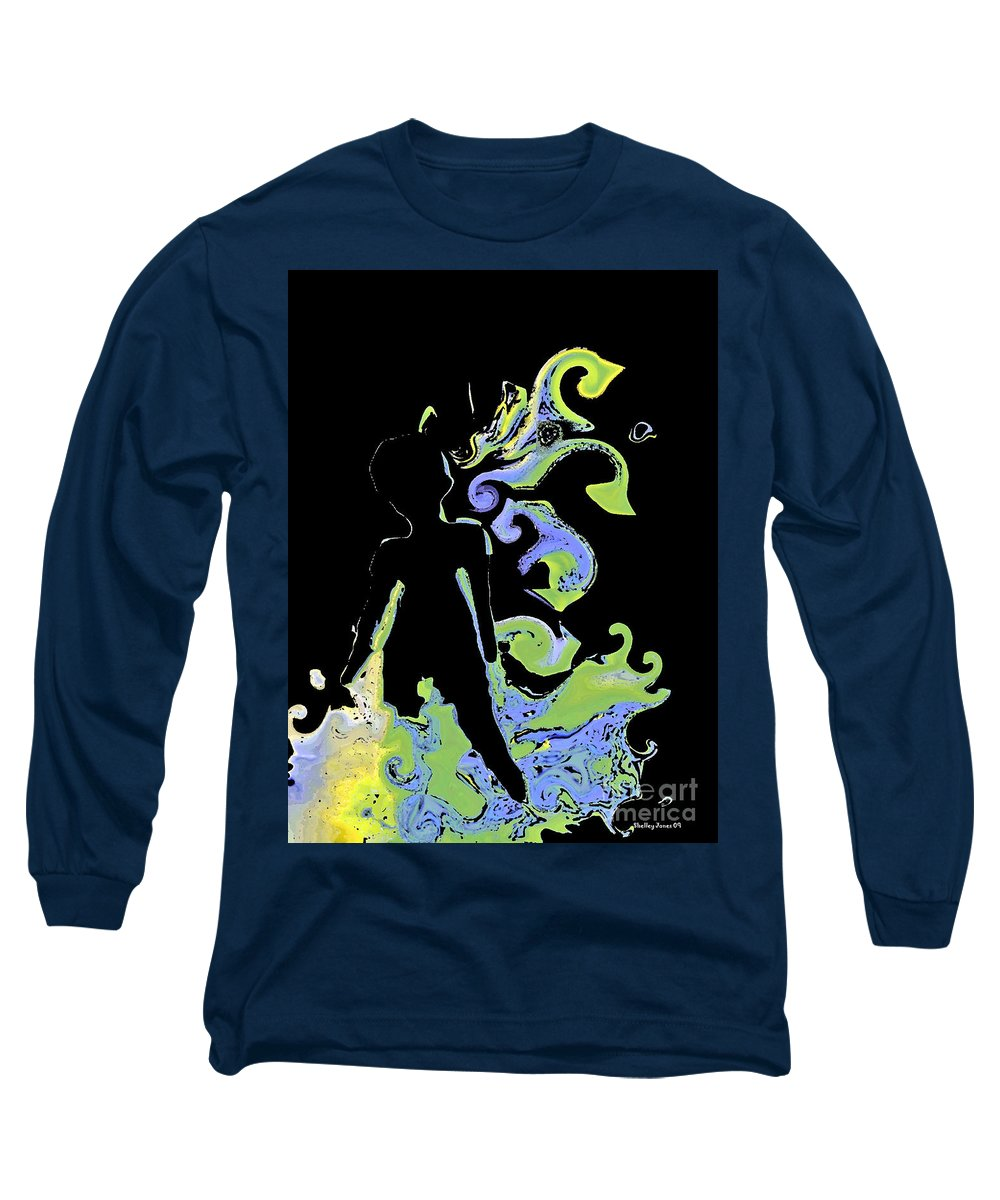Ocean Long Sleeve T-Shirt featuring the digital art Ocean by Shelley Jones