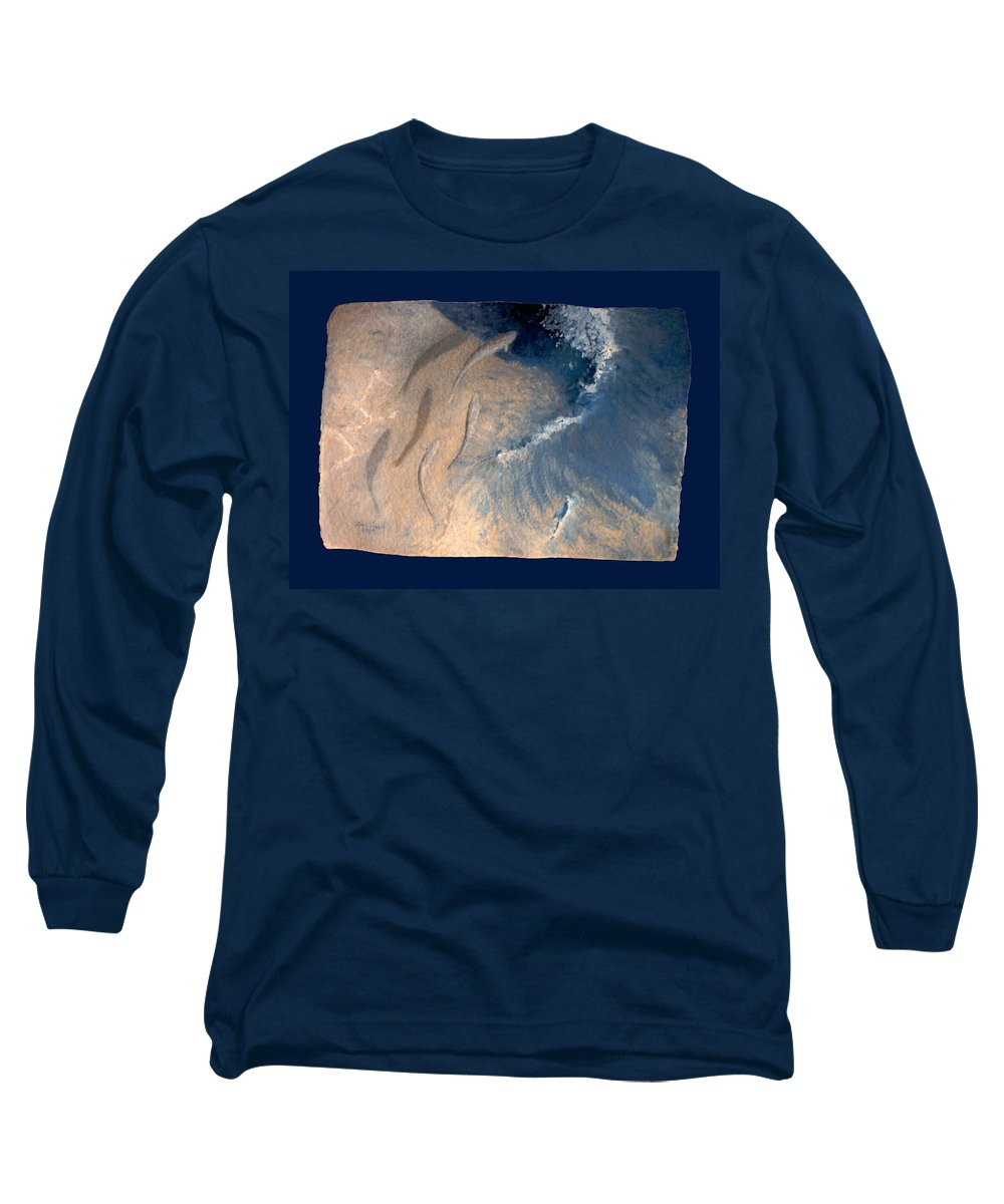 Seascape Long Sleeve T-Shirt featuring the painting Ocean by Steve Karol