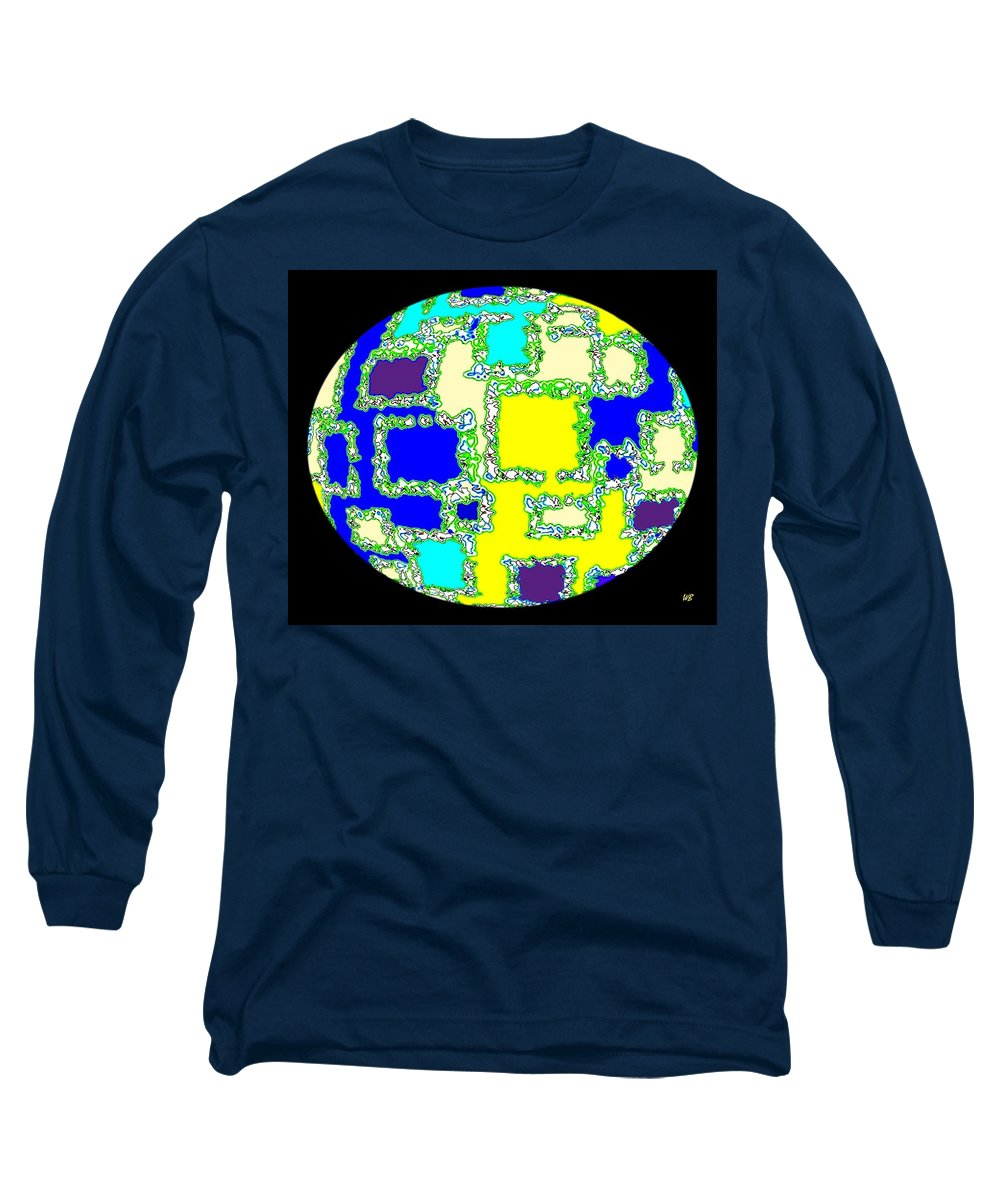 Abstract Long Sleeve T-Shirt featuring the digital art Ostrich Egg by Will Borden