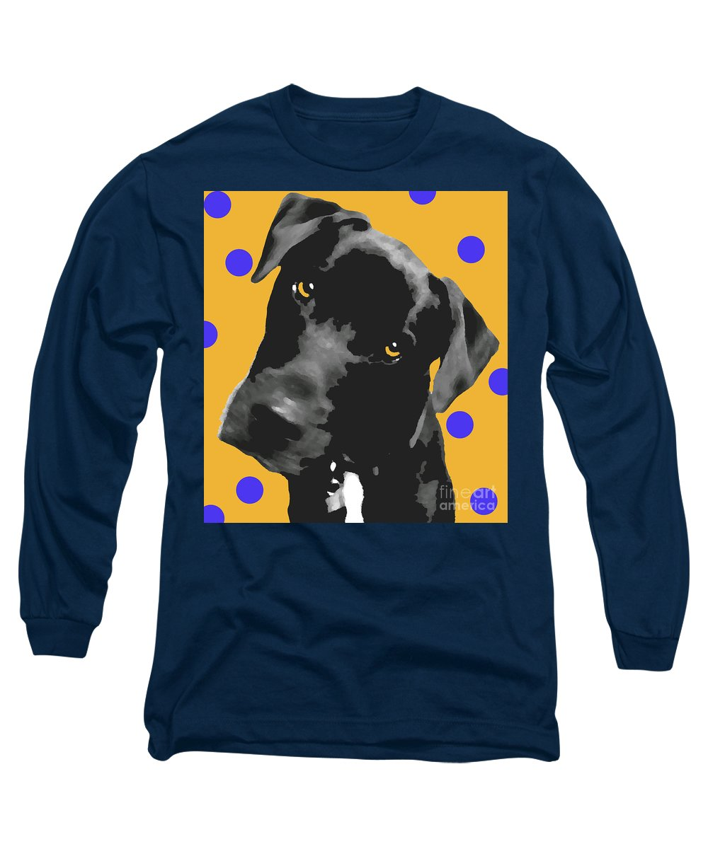 Dogs Long Sleeve T-Shirt featuring the photograph Polka Dot by Amanda Barcon
