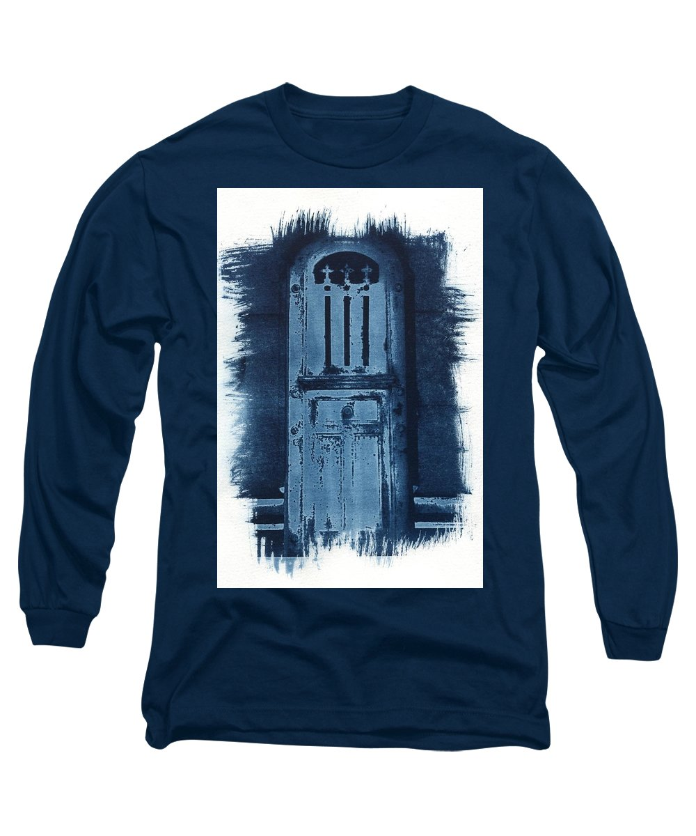 Cyanotype Long Sleeve T-Shirt featuring the photograph Portals by Jane Linders