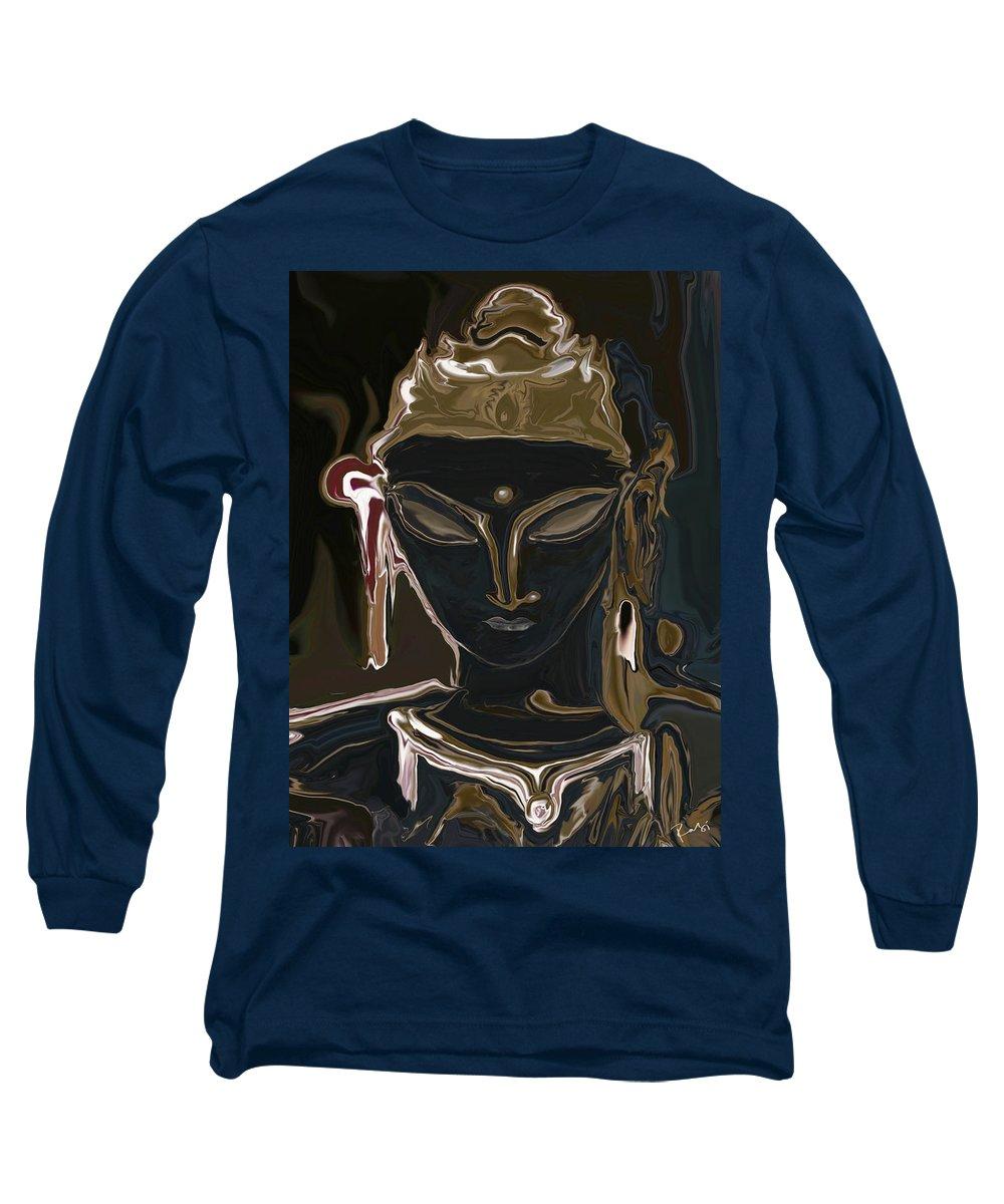 Art Long Sleeve T-Shirt featuring the digital art Portrait Of Vajrasattva by Rabi Khan