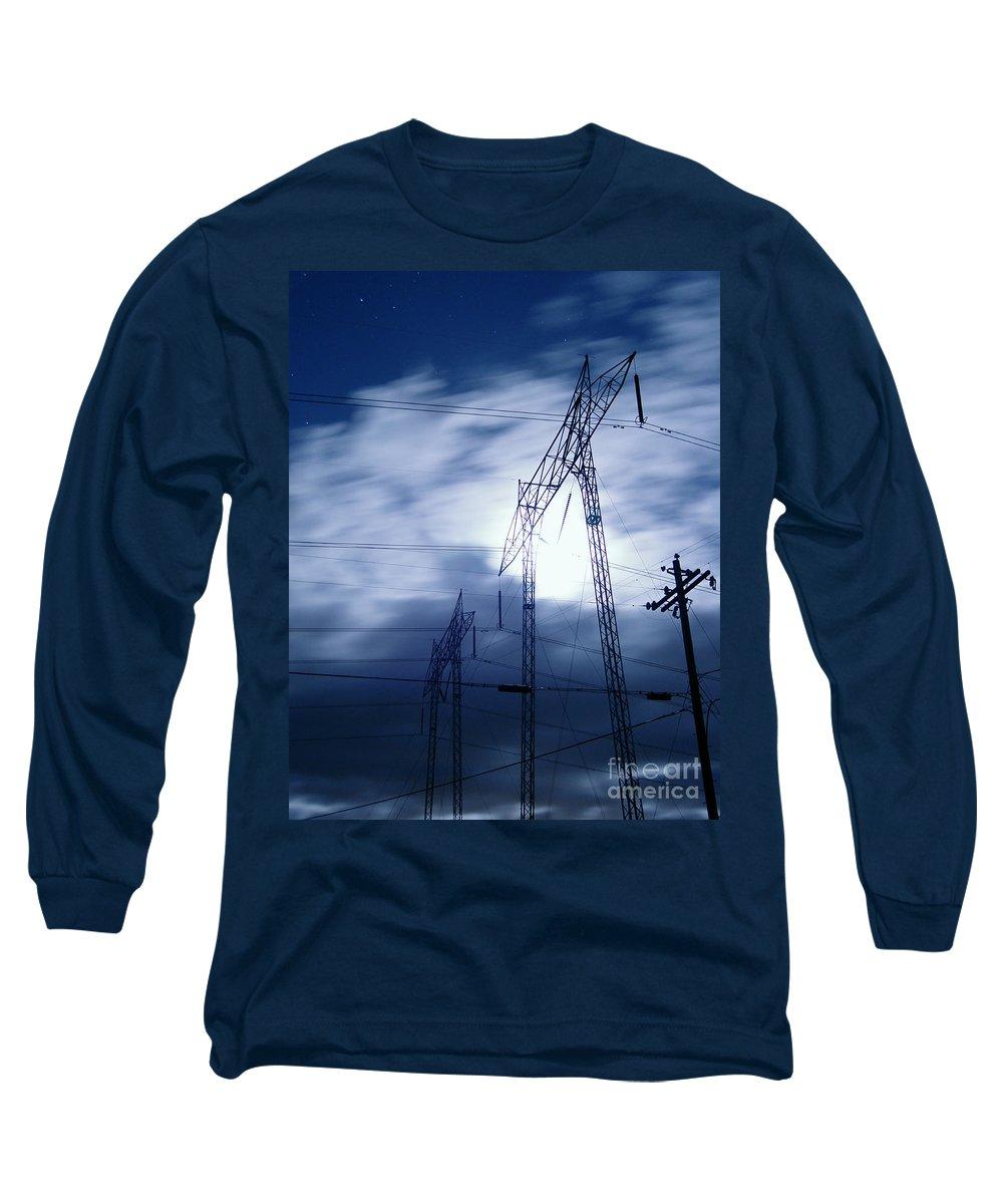 Clouds Long Sleeve T-Shirt featuring the photograph Power Surge by Peter Piatt