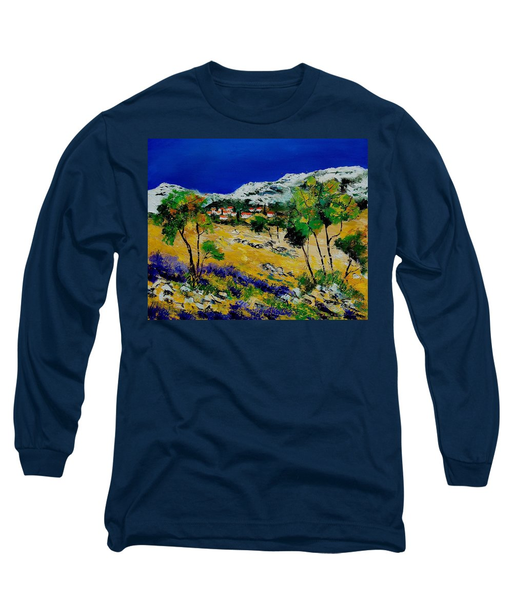 Provence Long Sleeve T-Shirt featuring the painting Provence 569060 by Pol Ledent