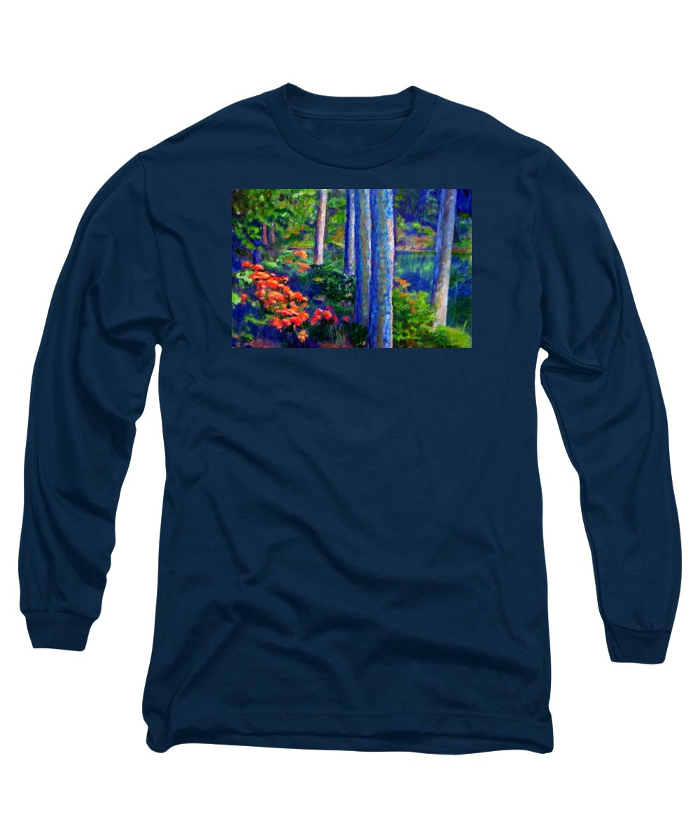 River Long Sleeve T-Shirt featuring the painting Rivers Edge by Michael Durst