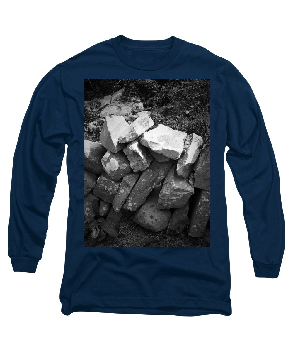 Irish Long Sleeve T-Shirt featuring the photograph Rock Wall Doolin Ireland by Teresa Mucha