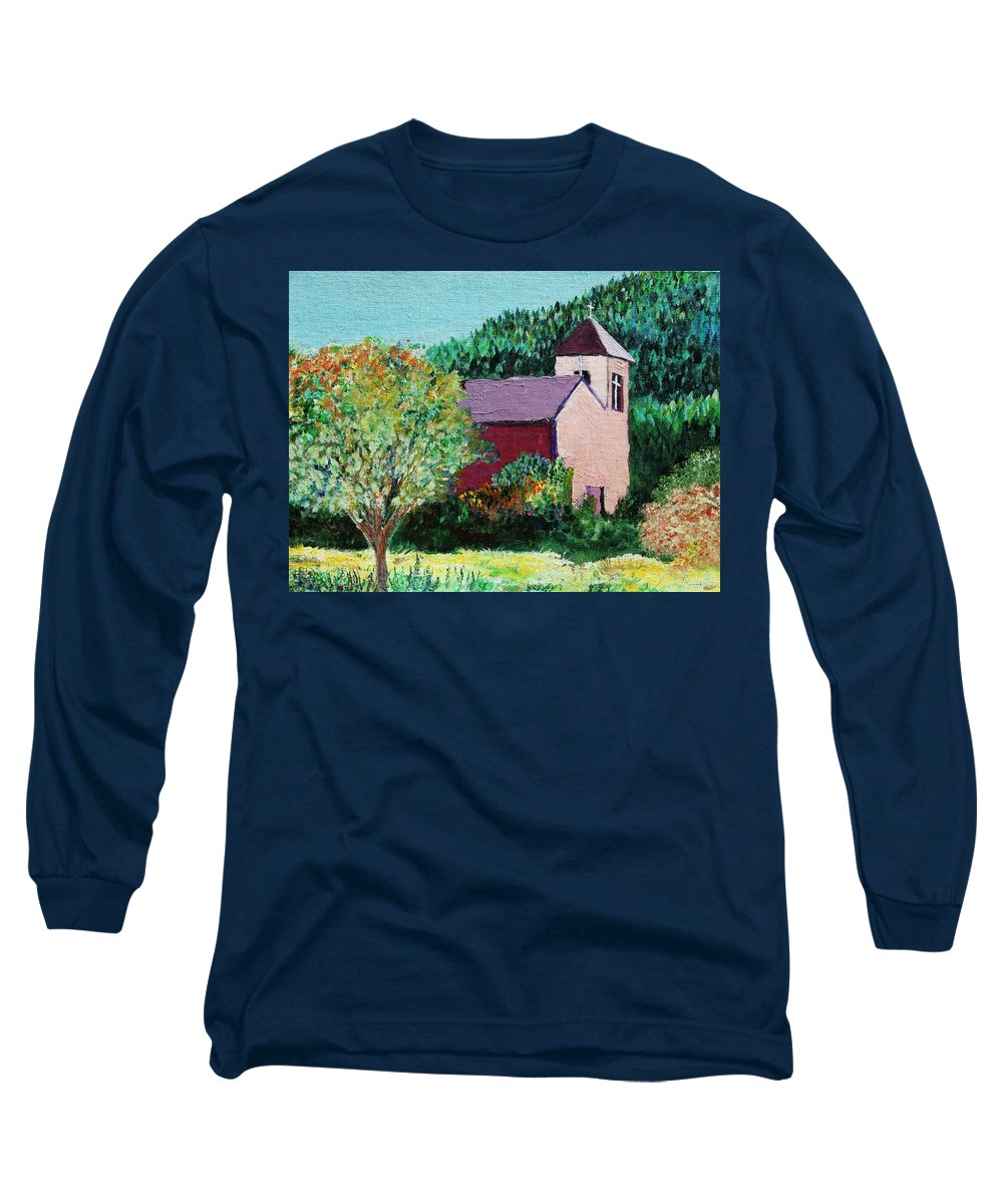 Church Long Sleeve T-Shirt featuring the painting Ruidoso by Melinda Etzold