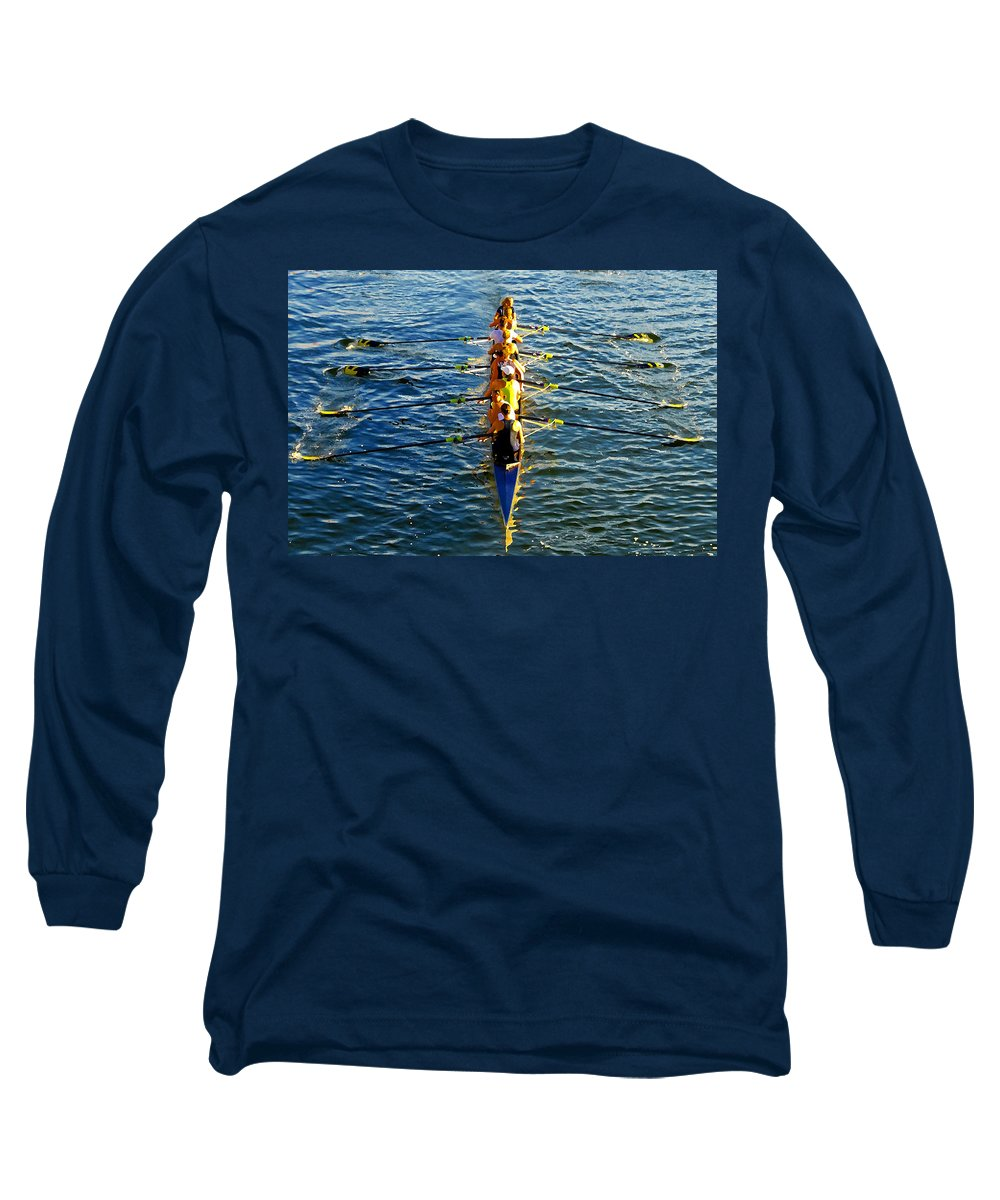 Females Long Sleeve T-Shirt featuring the photograph Sculling Women by David Lee Thompson