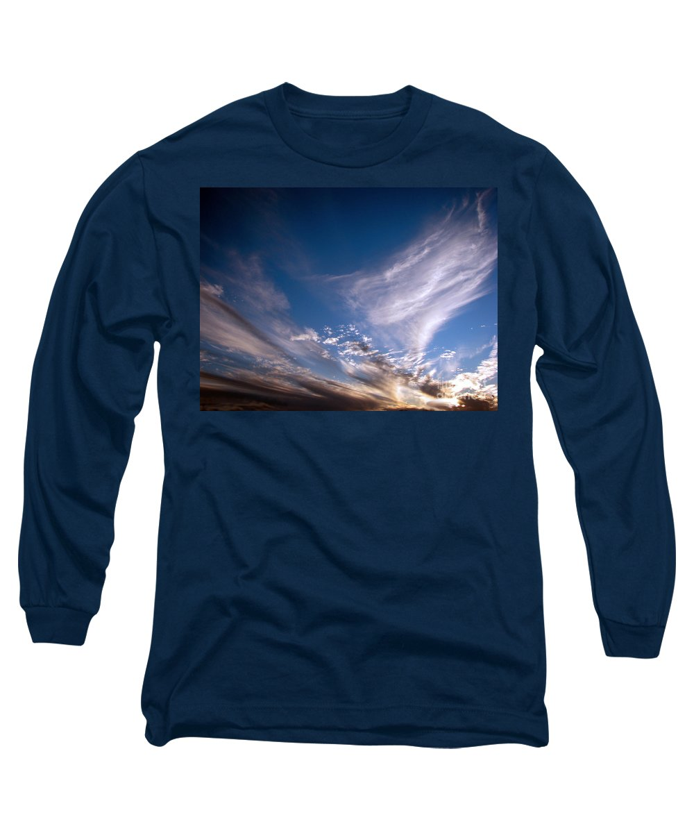 Skies Long Sleeve T-Shirt featuring the photograph Sky by Amanda Barcon