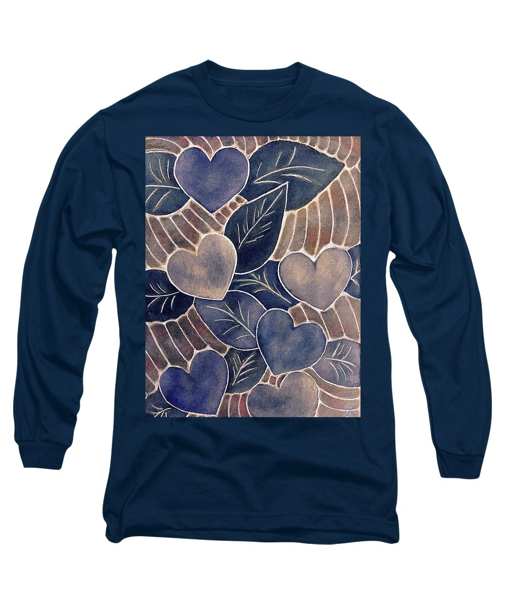 Intuition Art Long Sleeve T-Shirt featuring the pastel Soaring Spirits by Laurie's Intuitive