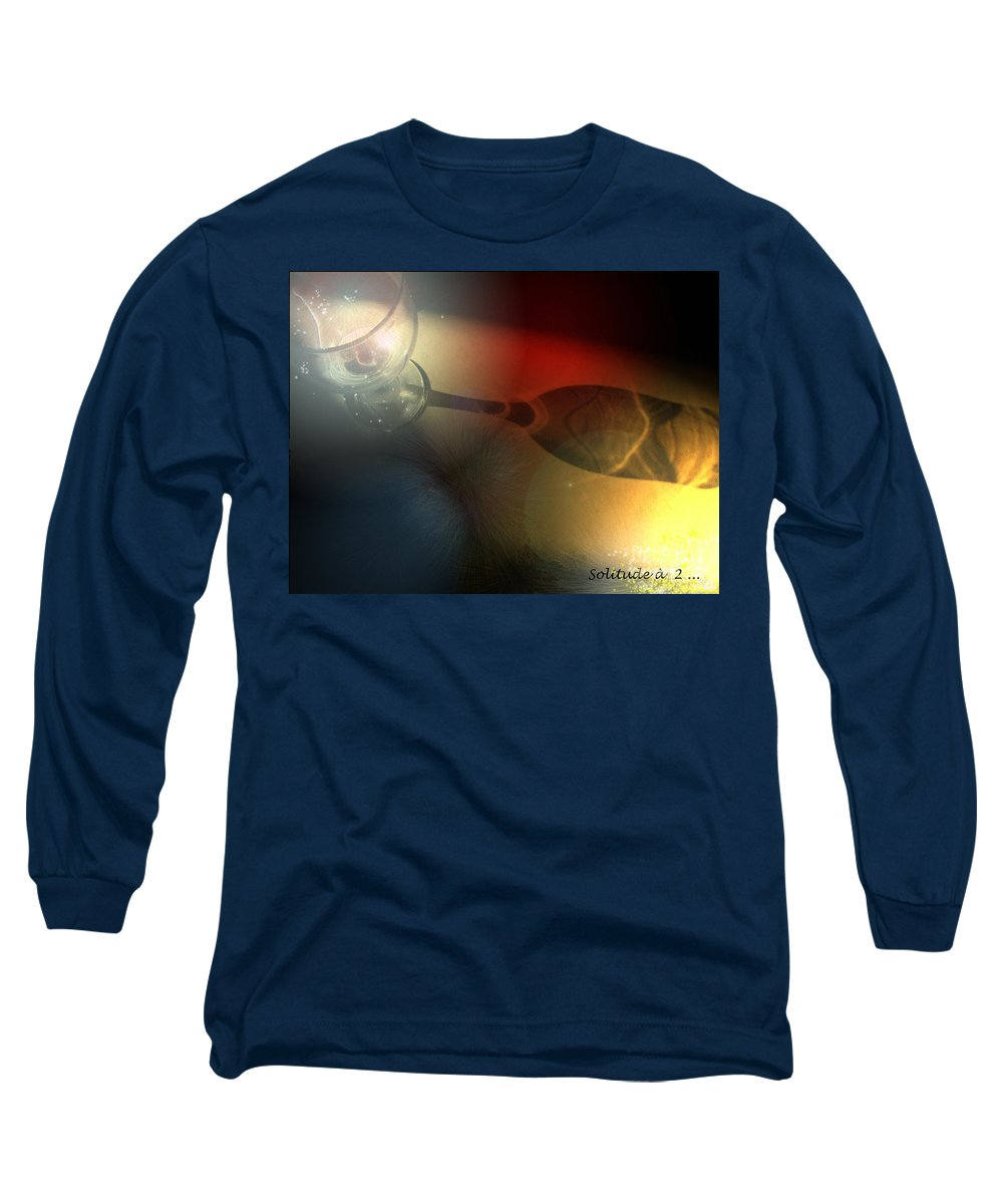 Fantasy Long Sleeve T-Shirt featuring the photograph Solitude A Deux by Miki De Goodaboom