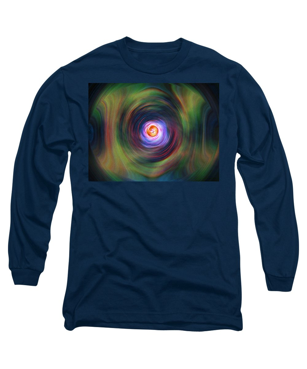 Abstrract Long Sleeve T-Shirt featuring the digital art Space Time Sequence by Don Quackenbush