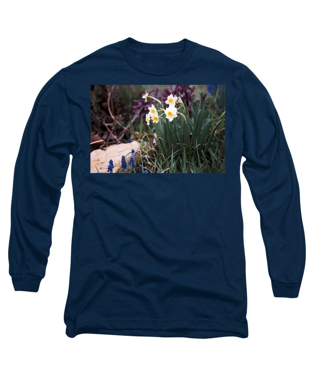 Flowers Long Sleeve T-Shirt featuring the photograph Spring Garden by Steve Karol