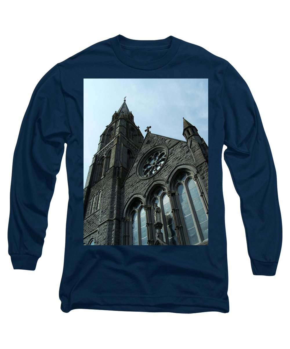 Ireland Long Sleeve T-Shirt featuring the photograph St. Mary's Of The Rosary Catholic Church by Teresa Mucha