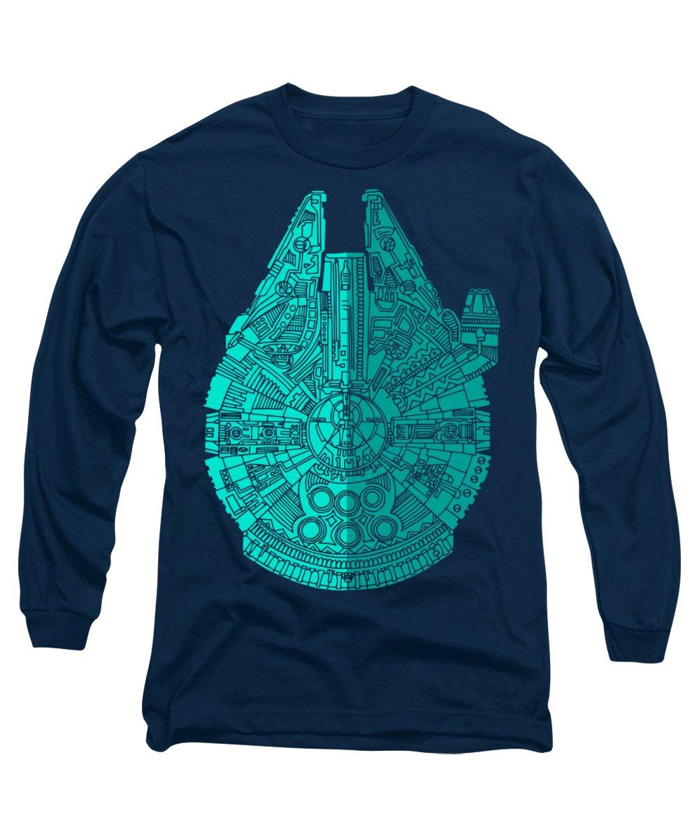 Spaceship Long Sleeve T-Shirts