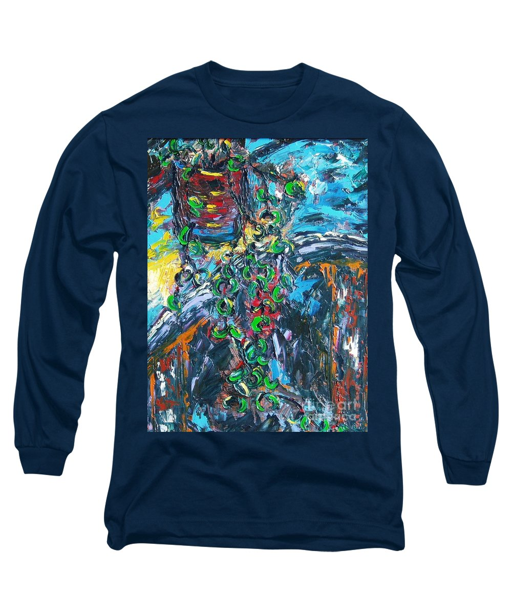 Abstract Paintings Long Sleeve T-Shirt featuring the painting Still Life by Seon-Jeong Kim