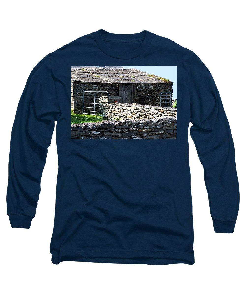 Irish Long Sleeve T-Shirt featuring the photograph Stone Barn Doolin Ireland by Teresa Mucha
