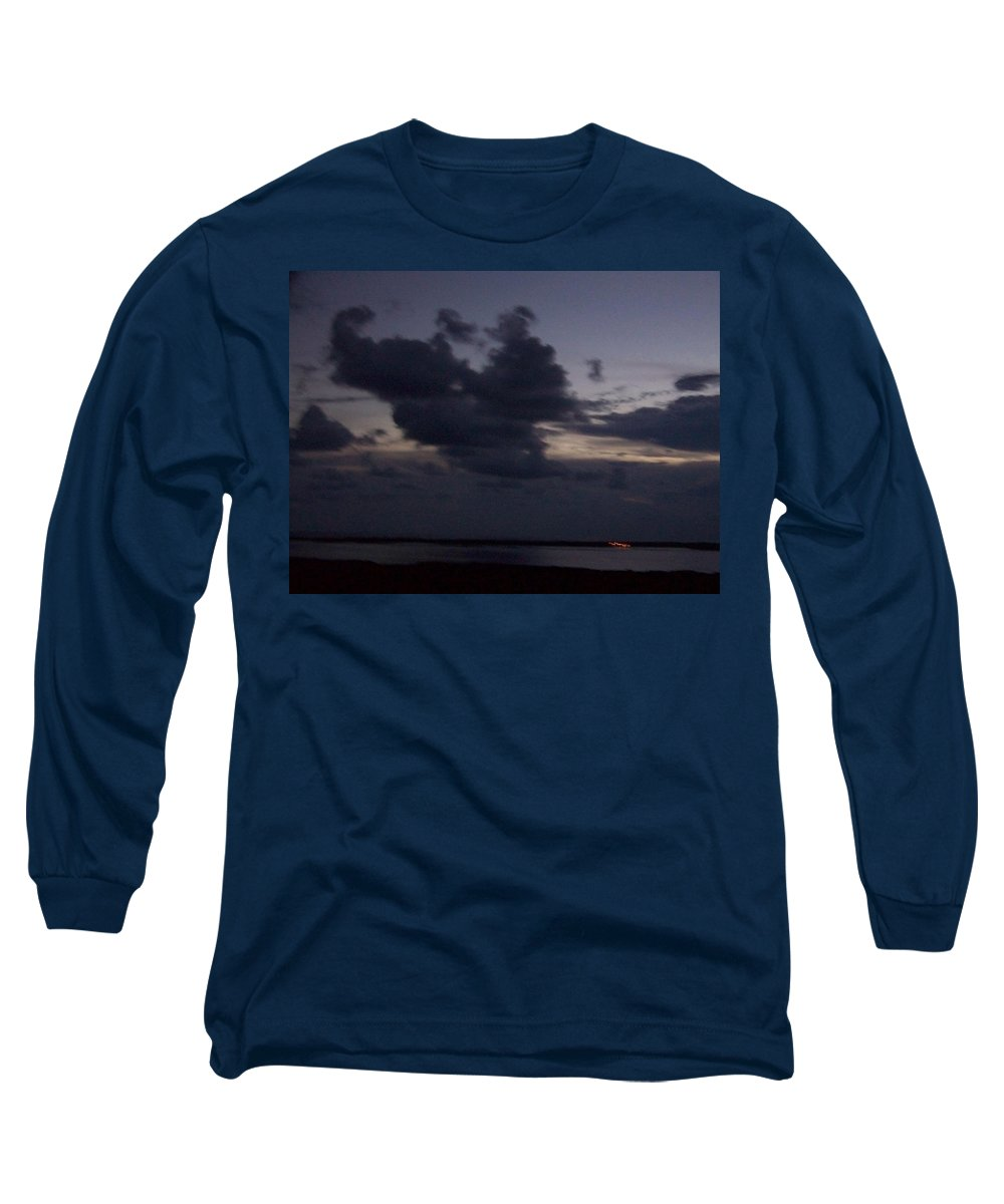 Sunset Over Estero Long Sleeve T-Shirt featuring the photograph Sunset 0005 by Laurie Paci