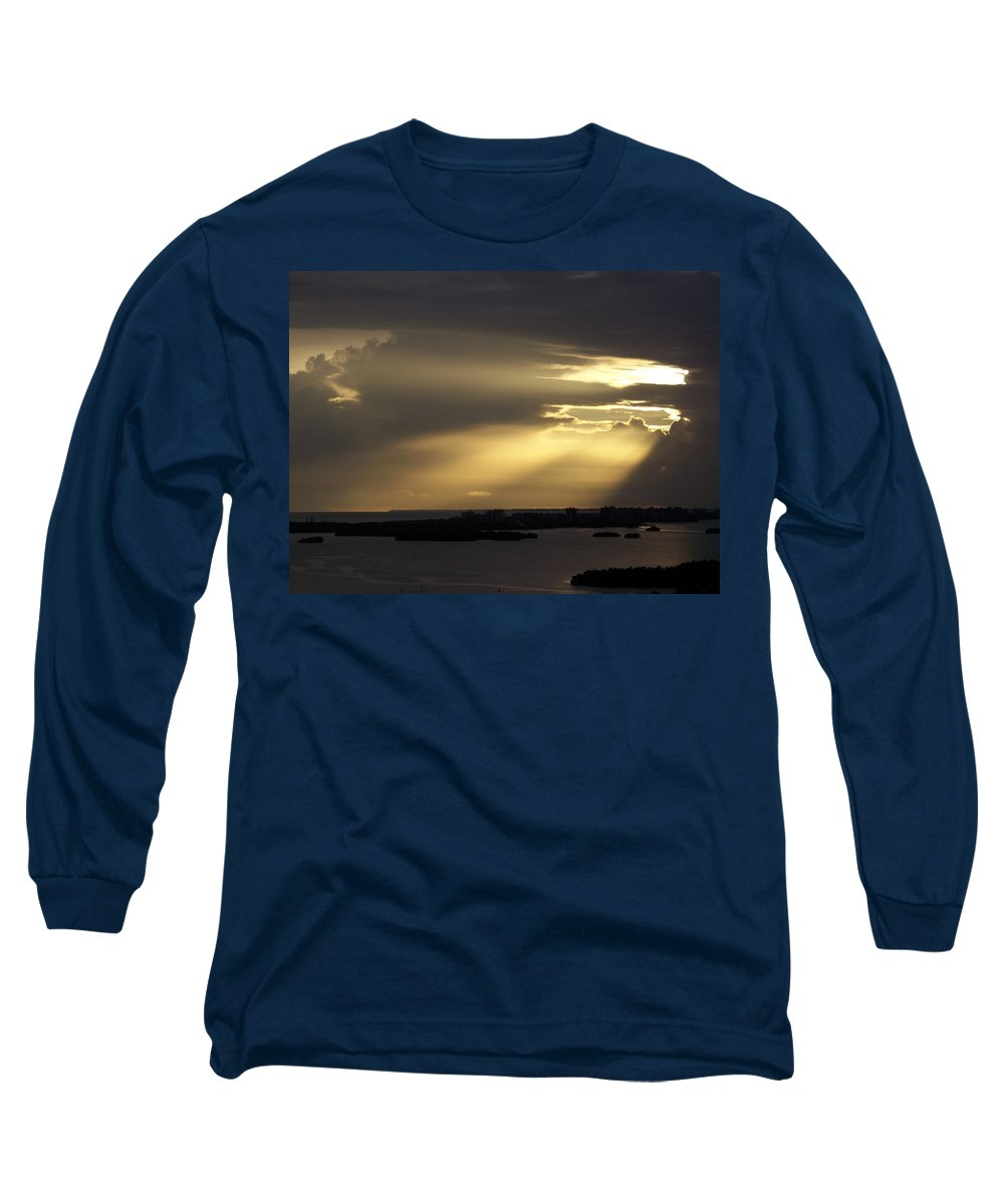 Sunset Over Estero Long Sleeve T-Shirt featuring the photograph Sunset 0006 by Laurie Paci