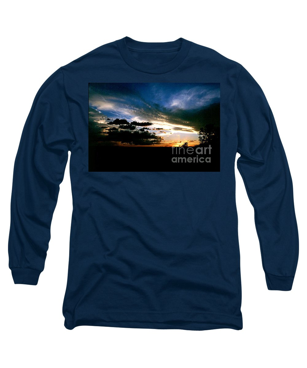 Sunset Long Sleeve T-Shirt featuring the photograph Sunset At The North Rim by Kathy McClure