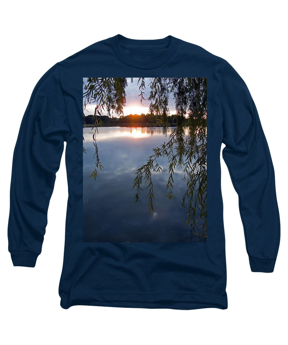 Nature Long Sleeve T-Shirt featuring the photograph Sunset by Daniel Csoka