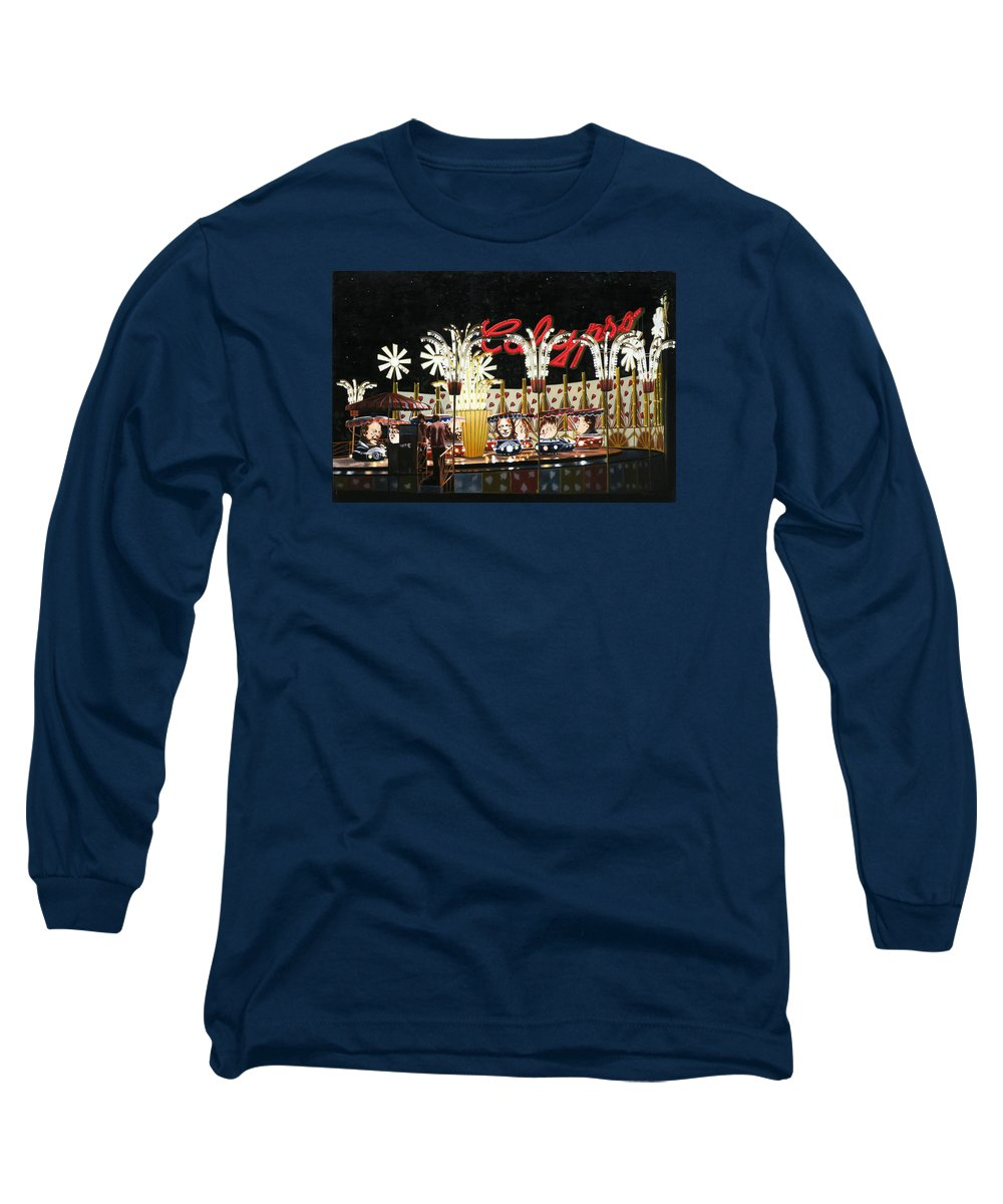 Surreal Long Sleeve T-Shirt featuring the painting Surreal Carnival by Dave Martsolf