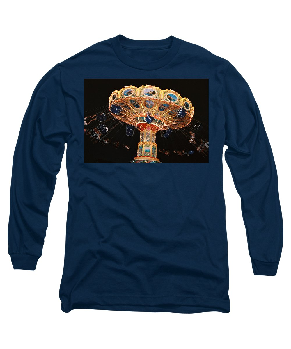 Boardwalk Long Sleeve T-Shirt featuring the photograph Swing by Steve Karol