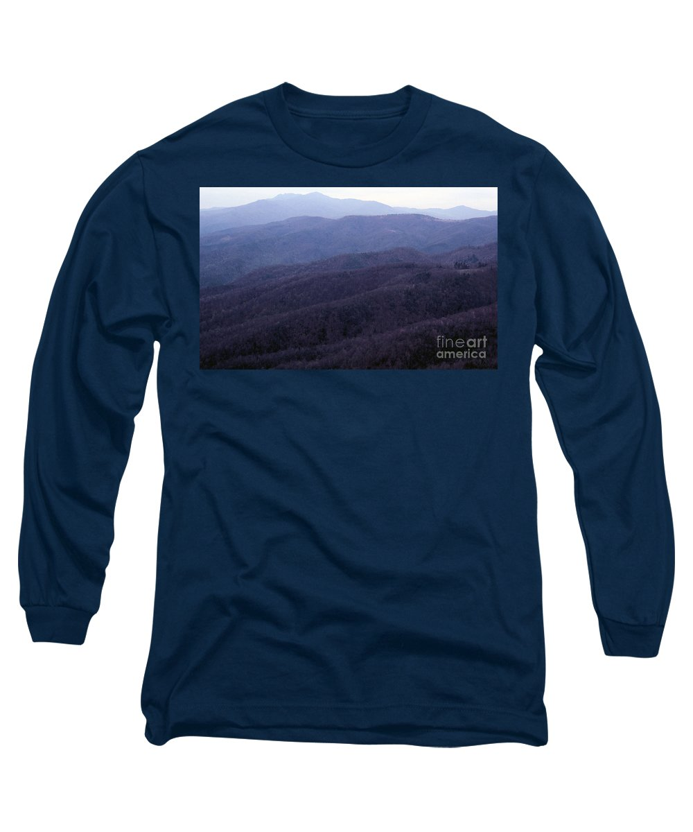Mountains Long Sleeve T-Shirt featuring the photograph The Blue Ridge by Richard Rizzo