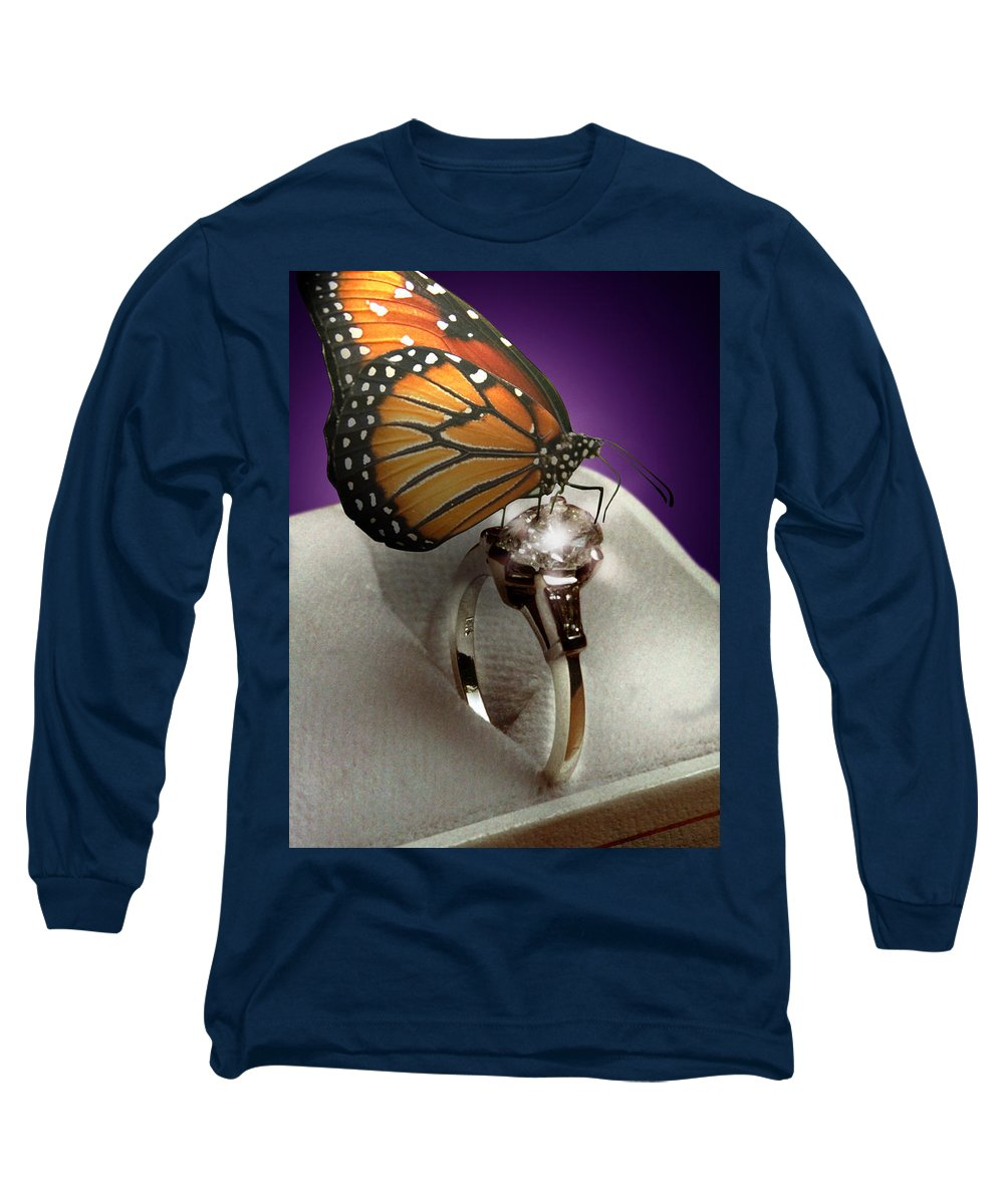 Fantasy Long Sleeve T-Shirt featuring the photograph The Butterfly And The Engagement Ring by Yuri Lev