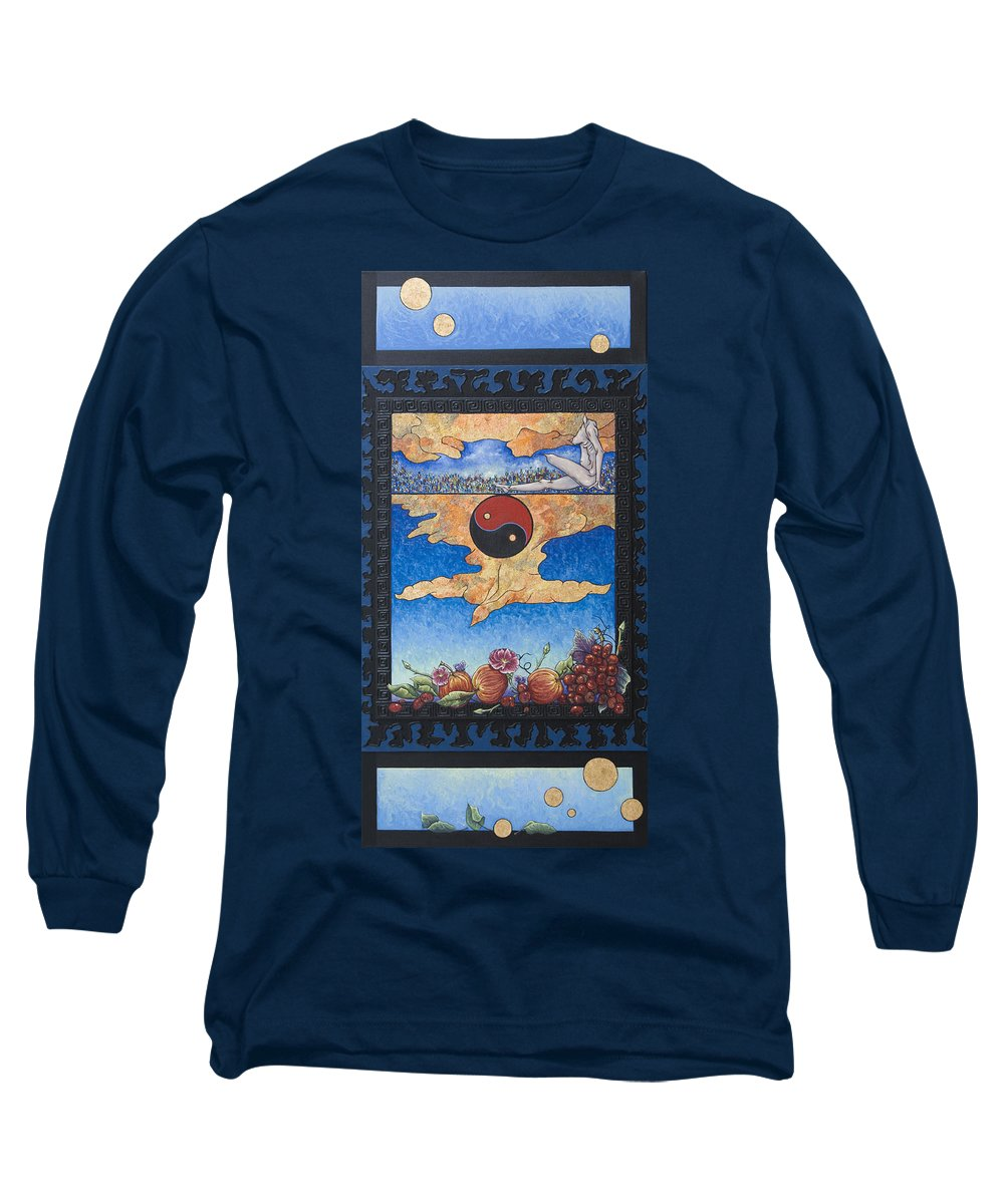 Karma Long Sleeve T-Shirt featuring the painting The Dream by Judy Henninger